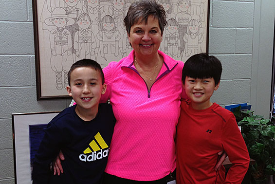 Okte 5th graders, Kevin Maney and Jai Scully had lunch with the principal, Mrs. Mickle, after earning 15 Super Stars!