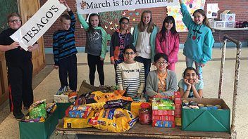 Tesago's Student Council held an an animal donation drive to benefit the Saratoga County Animal Shelter and the Animal Protective Foundation.