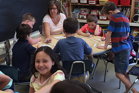 It may be the last day of school, but students are still learning in Mrs. Iannon's second grade class in Skano.