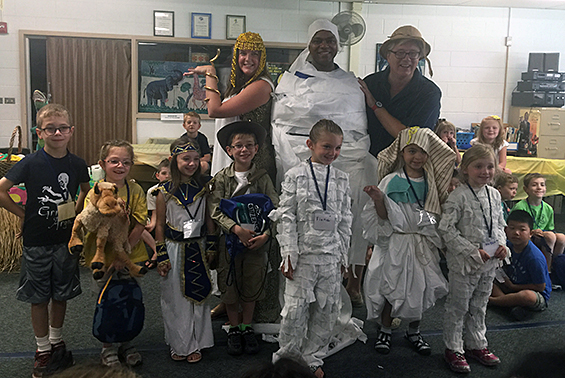 "Dr. Robinson gets ""mummified"" at Camp Little Shen"