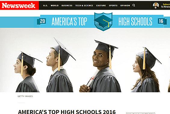 Newsweek school ranking article