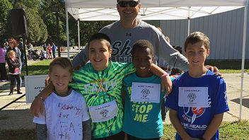Okte students and Coach Gifford participated in the Nick's Run to be Healed! More photos