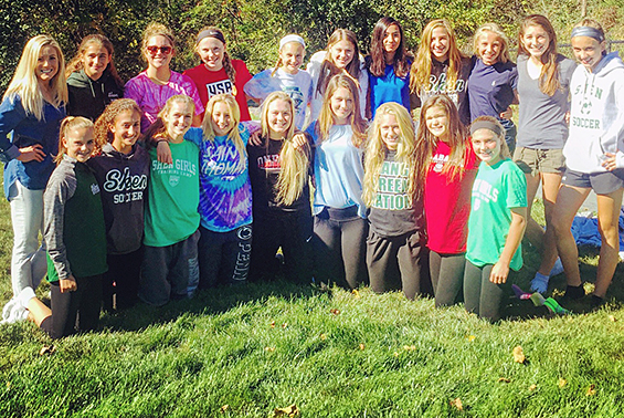A perfect fall day for a pasta party and team bonding as the JV Soccer Team closes in on the last week of their season.