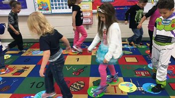 Shatekon, Mrs. Brodzinski's class use movement and music to learn letters and sounds.