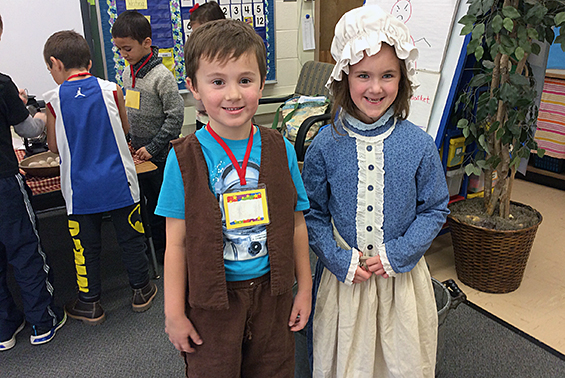 Skano students enjoy learning from PTA sponsored Scotia-Glenville Days Gone By.