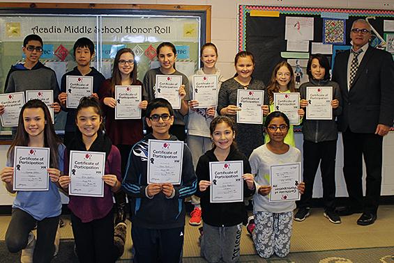 Acadia PTA Reflections Program participants