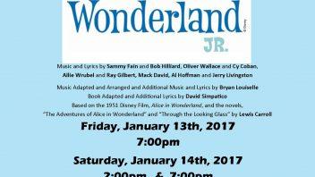Shatekon Drama Club's production of Alice in Wonderland Jr.  January 13-14. More info…