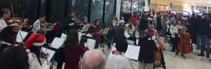 Shen 5th grade orchestra students from all 8 elementary schools performed at Clifton Park Center Mall