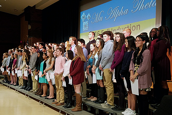 Mu Alpha Theta, the National Math Honor Society, inducted 112 Shen students at its second annual ceremony.