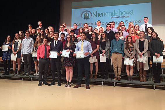 High School students were inducted to the newly formed Shen Chapter of the Science National Honor Society. SSNHS is the first chapter to be formed in the Capital District.