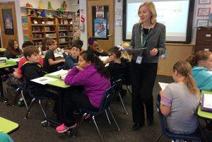 Jennifer Casabonne's library class at Karigon reviews the characteristics of a civilization.