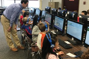Karigon First Grade students participated in Hour of Code