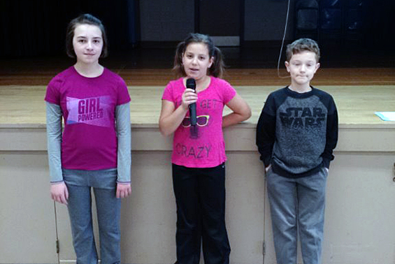 Karigon fifth graders share acts of compassion during the December Intermediate Program.