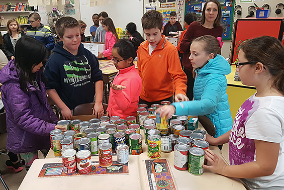 Okte's Community Action Club coordinated a school-wide food drive during the month of November to benefit CAPTAIN and the Bountiful Backpacks program.