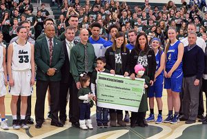 Thanks to Shen and Saratoga basketball teams, students and spectators from both schools who helped raise over $2500 for the Melodies Center for Childhood Cancer and Blood Disorders.