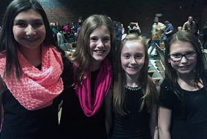 Gowana 6th graders are all smiles after their Holiday Treble Choir Concert!