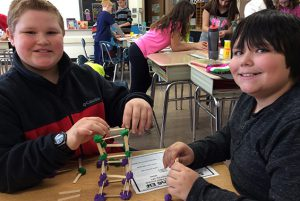Budding architects at Skano Elementary recently learned about seismology during a visit from Ms. Curren of Saratoga County's 4H Cooperative Extension.
