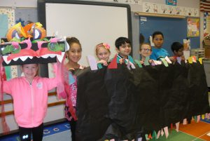 Ms. Donohue's class at Arongen celebrates Chinese New Year.