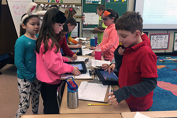 "Chango's third graders measured their way through the mystery of their ""stolen"" Valentine's Day treats."