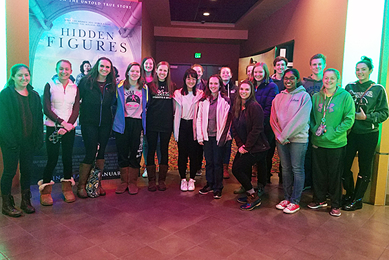 "Mu Alpha Theta, Shen HS Math Honor Society, went to see ""Hidden Figures,"" the story about brilliant, female African-American mathematicians."
