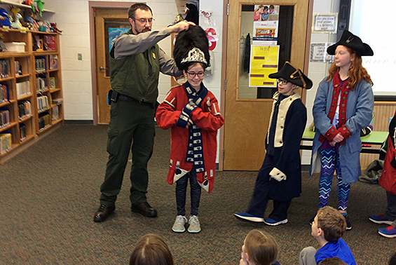 Karigon students learned about the Battle of Saratoga