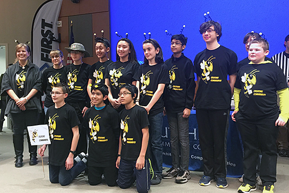 Congratulations to the FLL (First Lego League) Tribuilding Robotics team advanced at the Feb. 11 semifinal competition to the state final tournament in Poughkeepsie on Saturday Feb. 25.