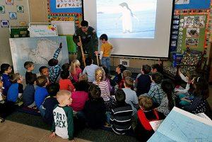 Tesago kindergarteners are still talking about Major Hicks' presentation on Antarctica!