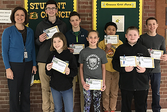 Congratulations to Gowana students for receiving a Gowana Gold Star for their random acts of kindness.