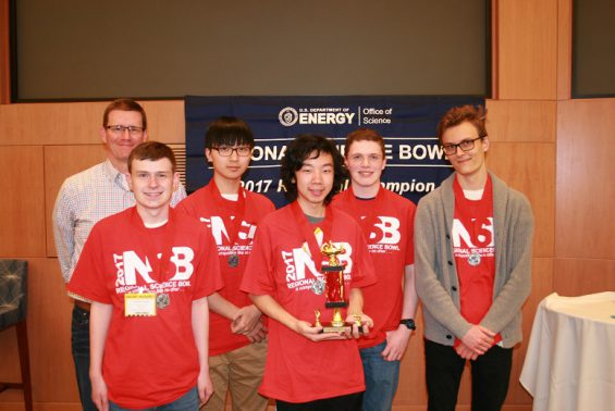 Shen's HS science bowl team finished 2nd in the Capital Region Science Bowl. Team members include Tommy Stryjski, Seonwoo Kim, Eddie Xie, Kevin Cook and Justin Sargunas.