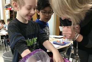 Shatekon first graders have been learning about penguins. They were able to explore just how blubber keeps penguins warm when in ice cold water!