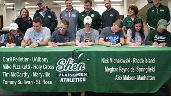 Congratulations to these seven Shen athletes who signed their National Letter of Intent.
