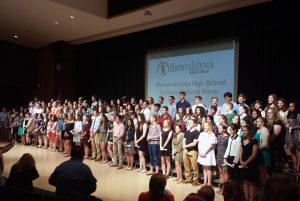 Shen has the first Science National Honor Society in the Capital Region and will have inducted more than 300 students this first year.