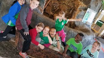 Mrs. Stockert's second graders from Shatekon visit the CMOST museum.