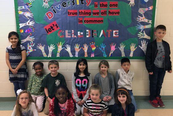 Shatekon 2nd graders in Mrs. Pembrook's class celebrate DIVERSITY