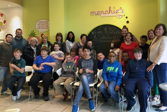 Ms. DeCerbo and Ms. Sutherland's FSD classrooms at Acadia middle school enjoyed a field trip to Clifton Park's Outback restaurant and Menchies.