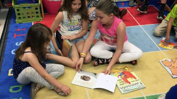 Students from Mrs. Symond's and Mrs. Pattersons' first and third grade classes enjoy some end of the year buddy reading. More photos…