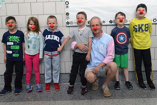Arongen students and staff participate in Red Nose Day