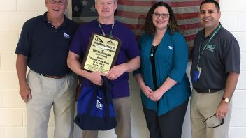 High School Global History & Geography teacher Mike Companion was awarded the TCT Federal Credit Union's Teacher of the Week Award.