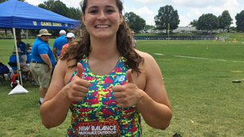 Congratulations to HS senior Jill Shippee who won the National Championships in the hammer throw at the New Balance Nationals in North Carolina.