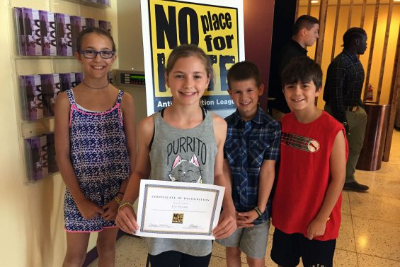 Student council members attended the No Place for Hate Ceremony, May 18th 2017. Our 5th grade student council president, Eva Pflomm, received an certificate of recognition for being a Gold Star student nominee.