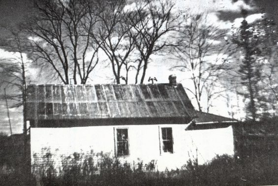 old photo of an old school house