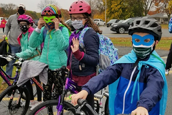 Chango students were recently honored by Senator Jim Tedisco for creating a bike club that rides to and from school daily.