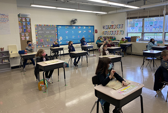"Katherine Connors class at Skano works on ""glued sounds"" to make words using the Fundations Letter board. More photos..."