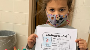 Mrs. Kern's first graders at Tesago practiced being good citizens and what that looks like when voting! More photos…