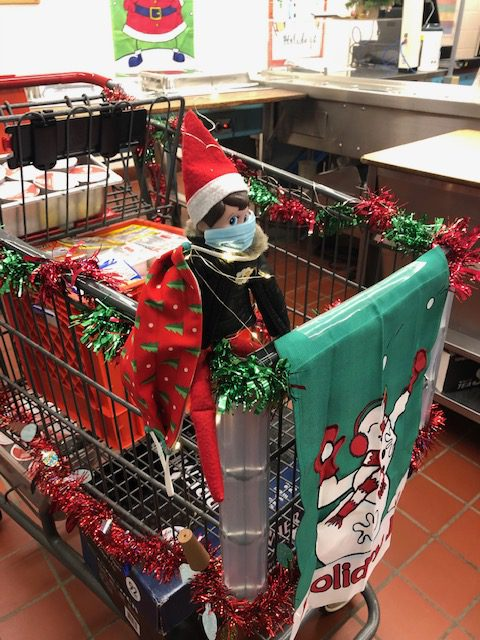 Elf in the lunch cart