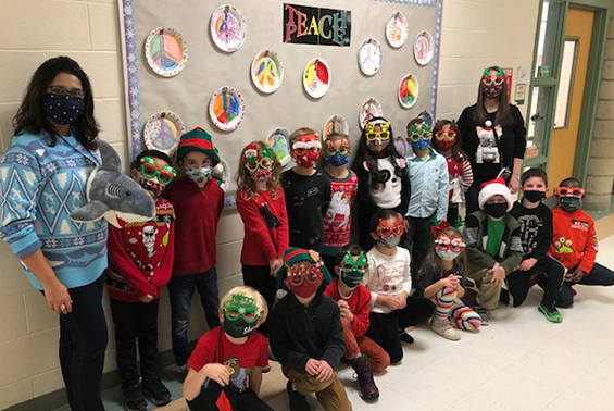 Shatekon - Mrs. Russell's 1st Grade class share messages of Peace before the holidays with Peace Plates