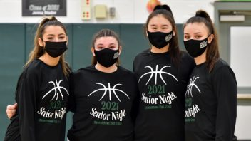 2/18/21 Girls Basketball celebrates victory over Troy on Senior Day. Click to see photos…