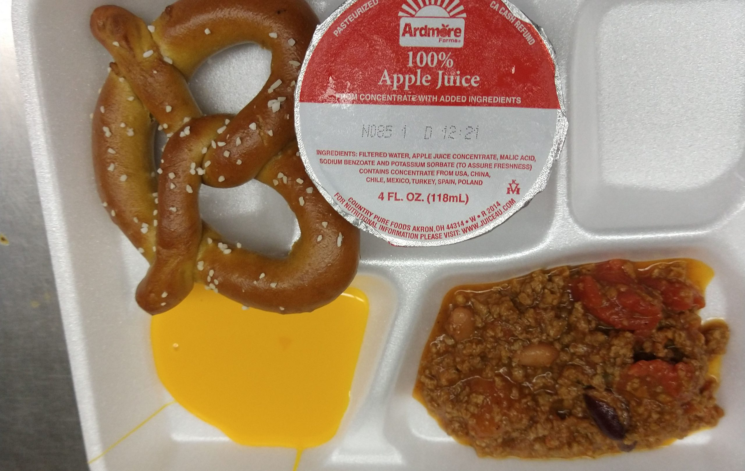 At Tesago, Mr Lotano's class celebrates National Pretzel Day with a pretzel lunch by the Food Service Department.