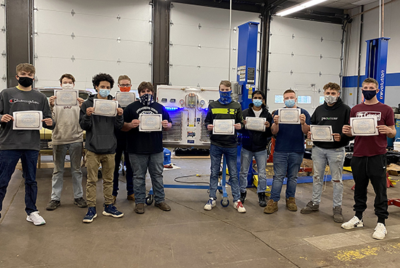 Congratulations to Shen High School student Logan Meyer for earning the Environmental Protection Agency (EPA) Refrigerant Recovery and Recycling certification.