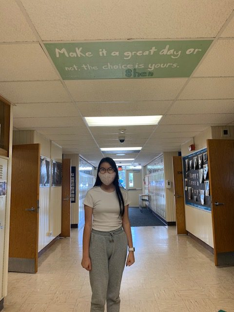 Acadia's Student Council is spreading positivity throughout the school by adding motivational, inspirational messages to ceiling tiles.